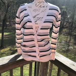 Poof striped cardigan size large